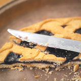 Home Made Pie and Knife Stock Image