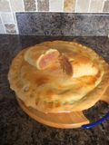 Home made pie and paste. Home made corned beef Royalty Free Stock Photography