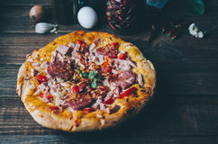Home Made Pizza Stock Photography