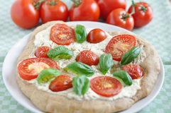 Home made Pizza Caprese Royalty Free Stock Photography