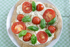 Home made Pizza Caprese Royalty Free Stock Image
