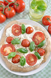 Home made Pizza Caprese Royalty Free Stock Photos