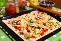 Home made pizza Royalty Free Stock Images