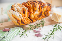 Home made pizza pull apart bread Stock Images