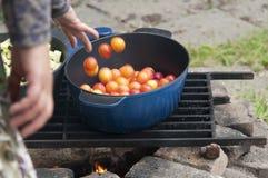 Home made plum chutney Stock Photo