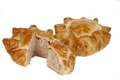 Home made pork pie Stock Images