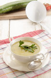 Home made potato cucumber soup Royalty Free Stock Photo