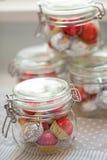 Home made pralines in jar Stock Image
