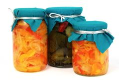 Home-made preserves Royalty Free Stock Photos