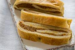 Home made pumpkin roll cake Stock Photo
