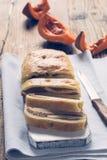 Home made pumpkin roll cake Stock Image