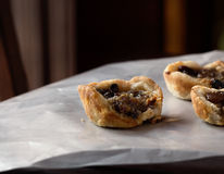 Home made raisin butter tart Royalty Free Stock Photo