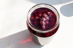 Home made raspberry jam Stock Photos