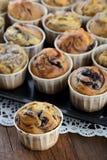 Home made raspberry muffins Stock Photo