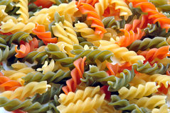 home made raw noodle in different colour Royalty Free Stock Images