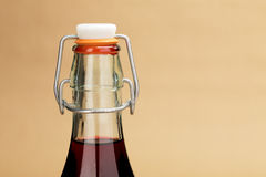Home made red wine in a classic bottle Royalty Free Stock Photography