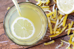 Home-made refreshing healthy summer lemonade Stock Photos