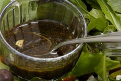 Home made salad dressing Stock Photography