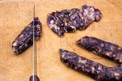 Home-made salami Royalty Free Stock Photo