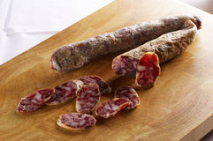Home made salami Royalty Free Stock Images
