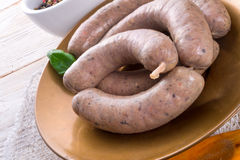 Home-made sausage Stock Photography