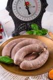 Home-made sausage Stock Photos