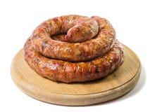 Home made sausage Stock Photos