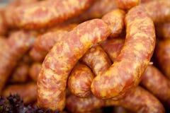 Home-made sausage Stock Photo