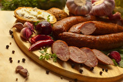 Home-made sausage Royalty Free Stock Photos