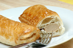 Home made sausage rolls Royalty Free Stock Photo