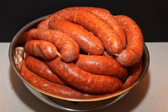 Home made sausages Royalty Free Stock Images