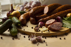 Home-made sausages Royalty Free Stock Photography