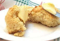 Home made scones Royalty Free Stock Images