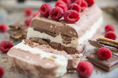 Home made semifreddo ice cream Stock Photography