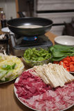 Home-made shabu shabu Stock Photos