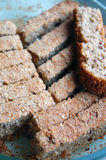 Home made sliced spelt bread Royalty Free Stock Images