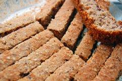 Home made sliced spelt bread Stock Photography