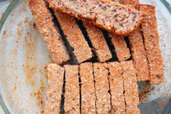 Home made sliced spelt bread Royalty Free Stock Photography