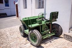 Home made small tractor Lefkara, Cyprus Royalty Free Stock Images