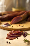 Home-made smoked loin Royalty Free Stock Image