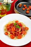 Home made spaghetti Royalty Free Stock Photo