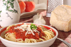Home made spaghetti Royalty Free Stock Images