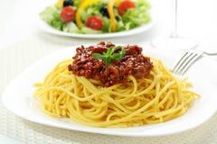 Home made spaghetti with  bolognese Stock Photos
