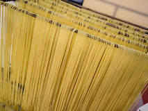 Home made spaghetti. Italian hand made pasta, home made speghetti Royalty Free Stock Photography