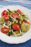 Home made spinach gnocchi Royalty Free Stock Images