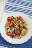 Home made spinach gnocchi Stock Photos