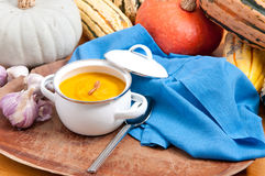 Home made squash soup Stock Image