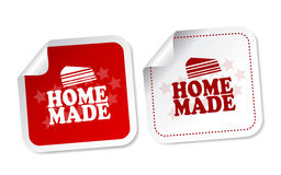 Home Made Stickers Stock Photo