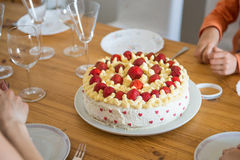 Home made strawberry cake Royalty Free Stock Images