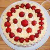 Home made strawberry cake Stock Photos